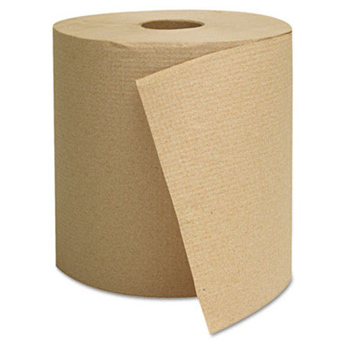 General Supply Hardwound Towels, Brown, 1-Ply, Brown, 800ft, 6 Rolls/Carton (GEN 1825)