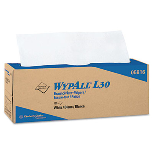 WypAll L30 Towels  POP-UP Box  9 4 5 x 16 2 5  120 Box  6 Boxes Carton (KCC 05816)