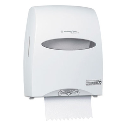 Kimberly-Clark Professional* Sanitouch Hard Roll Towel Dispenser  12 63 100w x 10 1 5d x 16 13 100h  White (KCC 09995)