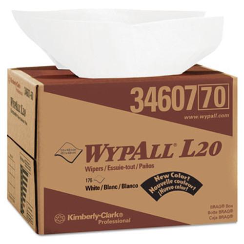 WypAll L20 Towels  Brag Box  12 1 2 x 16 4 5  Multi-Ply  White  176 Box (KCC 34607)