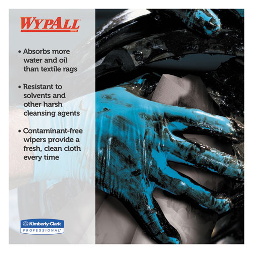 WypAll X80 Cloths with HYDROKNIT  Jumbo Roll  12 1 2w x 13 4 White  475 Roll (KCC 41025)