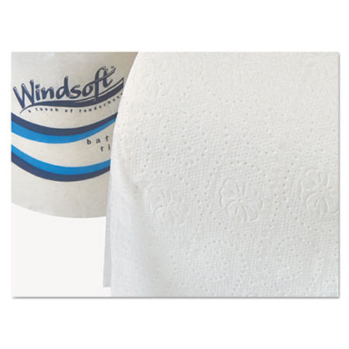 Windsoft Bath Tissue  Septic Safe  2-Ply  White  4 x 3 75  400 Sheets Roll  18 Rolls Carton (WIN 2440)
