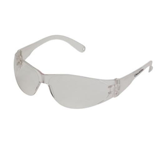 Crews Checklite Safety Glasses, Clear Frame, Anti-Fog Lens (MCR CL110AF)