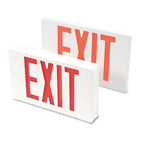 Tatco LED Exit Sign  Polycarbonate  12 1 4  x 2 1 2  x 8 3 4   White (TCO 07230)