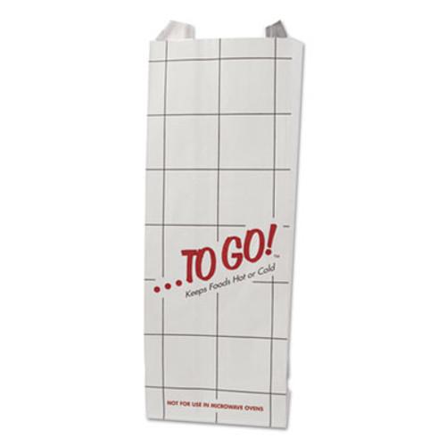 Bagcraft Foil Sandwich Bags, 5 1/4 x 3 1/2 x 12, White, To Go!, 1000/Carton (BGC 300506)