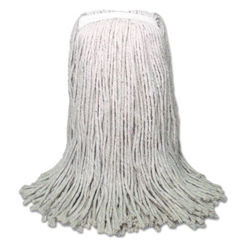 Boardwalk Banded Mop Head  Cotton  Cut-End  White  16oz  12 Carton (BWK CM20016)