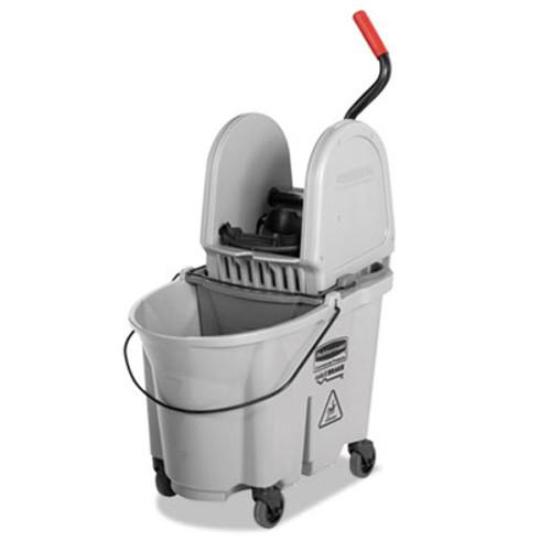 Rubbermaid Commercial Executive WaveBrake Down-Press Mop Bucket  Gray  35 Quart (RCP 1863899)