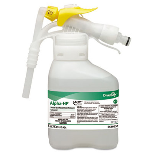 Diversey Alpha-HP Multi-Surface Disinfectant Cleaner  Citrus Scent  1 5L Spray Bottle UOM (DVO 5549254)