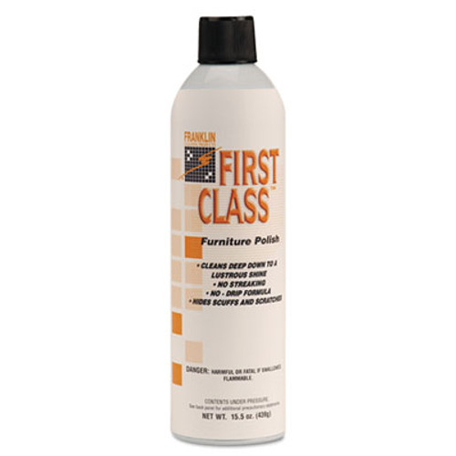 Franklin Cleaning Technology First Class Furniture Polish  Floral Scent  18 oz Aerosol Can  12 Carton (FRK F801015)