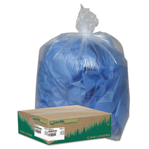 Earthsense Commercial Linear Low Density Clear Recycled Can Liners  33 gal  1 25 mil  33  x 39   Clear  100 Carton (WEB RNW4015C)