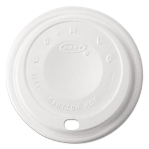 Dart Cappuccino Dome Sipper Lids, 12 oz, White (DCC 12EL)