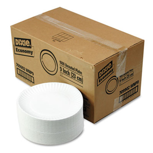 Dixie White Paper Plates  9  dia  250 Pack  4 Packs Carton (DIX WNP9OD)
