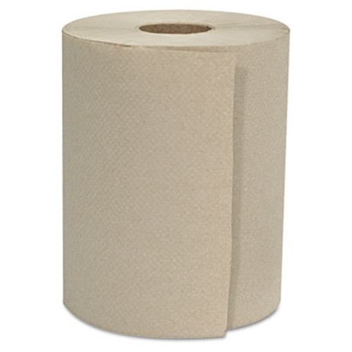 GEN Hardwound Roll Towels  1-Ply  Natural  8  x 800 ft  6 Rolls Carton (GEN 8X800HWT-KF)