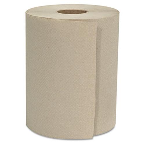 GEN Hardwound Roll Towels  1-Ply  Natural  8  x 800 ft  6 Rolls Carton (GEN 8X800HWT-KF)