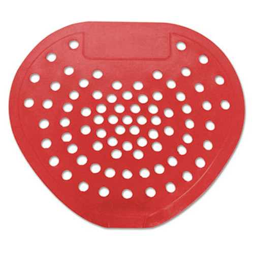 HOSPECO Health Gards Vinyl Urinal Screen  7 3 4 w x 6 7 8 h  Red  Cherry  Dozen (HOS 03901)