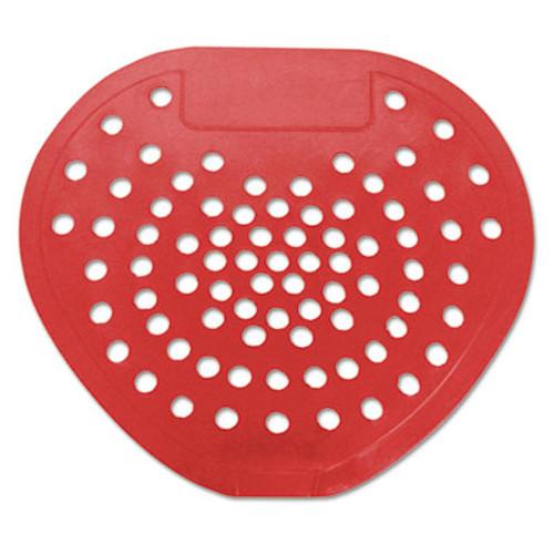 HOSPECO Health Gards Vinyl Urinal Screen  7 3 4 w x 6 7 8 h  Red  Cherry  Dozen (HOS 03901)