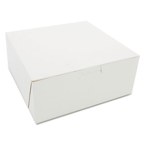 SCT Bakery Boxes, White, Paperboard, 7 x 7 x 3, 250/Carton (SCH 0917)