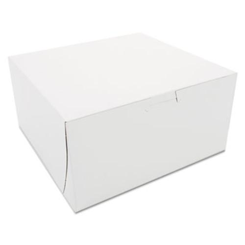 SCT Non-Window Bakery Boxes, 8 x 8 x 4, White, 250/Carton (SCH 0941)