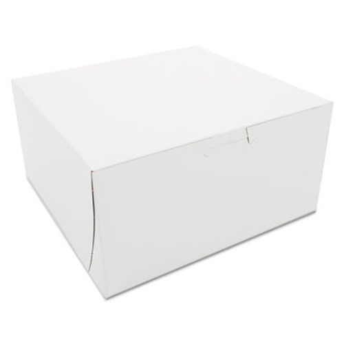 SCT Non-Window Bakery Boxes  8 x 8 x 4  White  250 Carton (SCH 0941)
