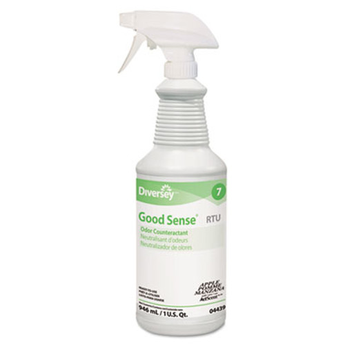 Diversey Good Sense RTU Liquid Odor Counteractant  Apple Scent  32 oz Spray Bottle (DVO 04439)