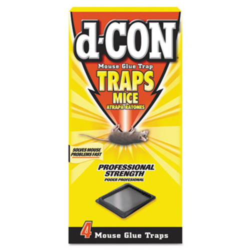 d-CON Mouse Glue Trap  Plastic  4 Traps Box  12 Boxes Carton (REC 78642)