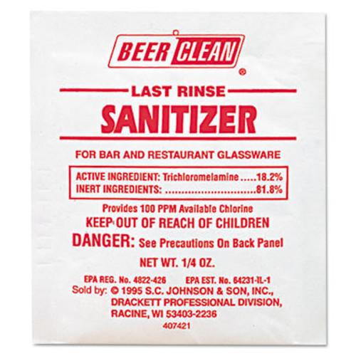 Diversey Beer Clean Last Rinse Glass Sanitizer  Powder   25oz Packet  100 Carton (DVO 90223)