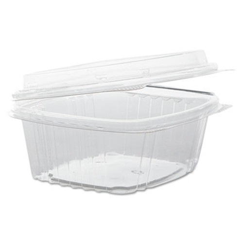 Genpak Clear Hinged Deli Container, APET, 12 oz, 5 3/8 x 4 1/2 x 2 7/8, 200/Carton (GNP AD12F)
