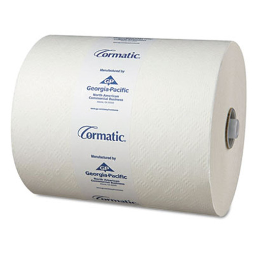 Georgia Pacific Professional Hardwound Roll Towels  8 1 4 x 700ft  White  6 Rolls Carton (GPC 2930P)