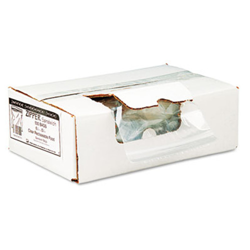 Handi-Bag Recloseable Zipper Seal Sandwich Bags, 1.15mil, 6.5 x 5.875, Clear, 500/Box (WEB ZIPSAND)