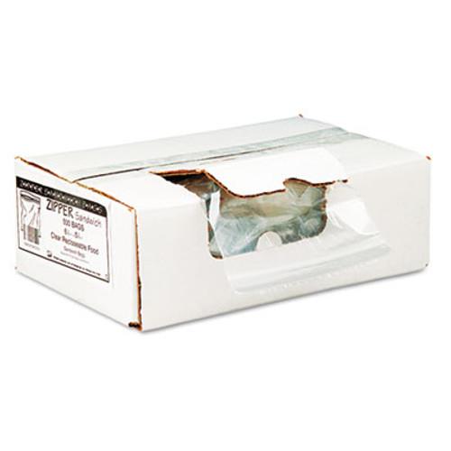Handi-Bag Recloseable Zipper Seal Sandwich Bags  1 15 mil  6 5  x 5 88   Clear  500 Box (WEB ZIPSAND)