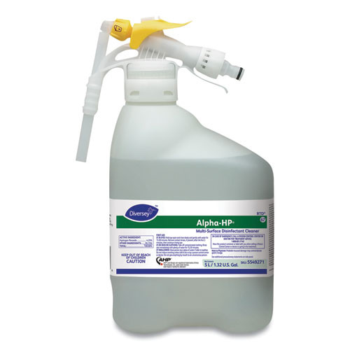 Diversey Alpha-HP Concentrated Multi-Surface Cleaner  Citrus Scent  5000mL RTD Bottle (DVO 5549271)