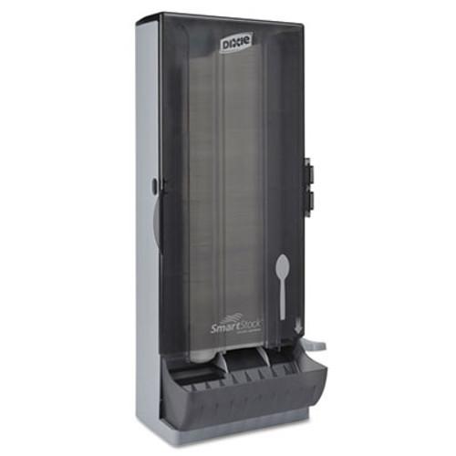 Dixie SmartStock Utensil Dispenser  Spoon  10  x 8 78  x 24 75   Smoke (DXESSSPD120)