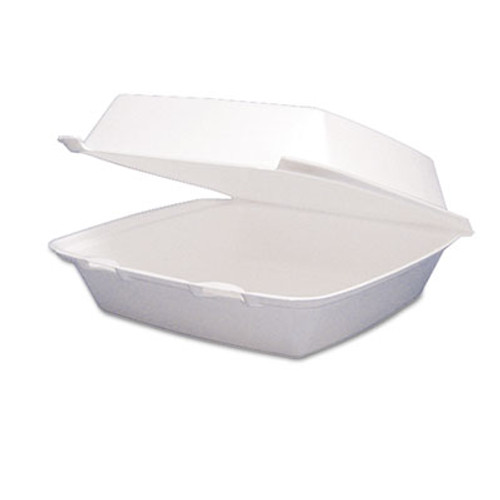Dart Foam Container  Hinged Lid  1-Comp  8 3 8 x 7 7 8 x 3 1 4  200 Carton (DCC 85HT1R)