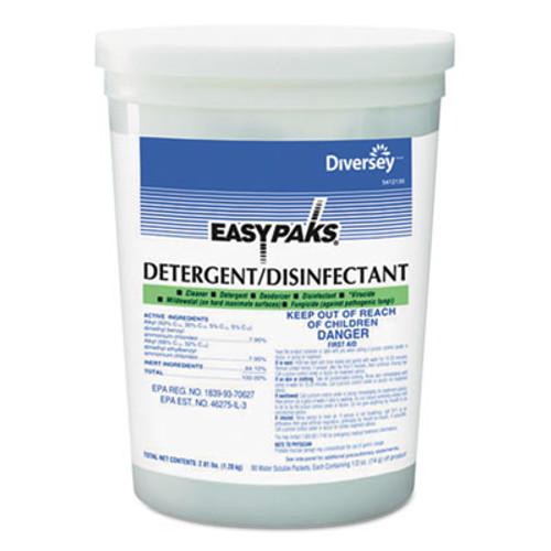 Easy Paks Detergent Disinfectant  Lemon Scent   5oz  Packet  90 Tub  2 Tubs Carton (DVO 5412135)