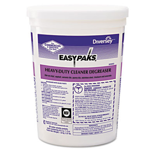 Easy Paks Heavy-Duty Cleaner/Degreaser, 1.5oz Packet, 36/Tub, 2 Tubs/Carton (DVO 90682)