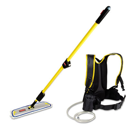 Rubbermaid Commercial Flow Finishing System  56  Handle  18  Mop Head  Yellow (RCP Q979)