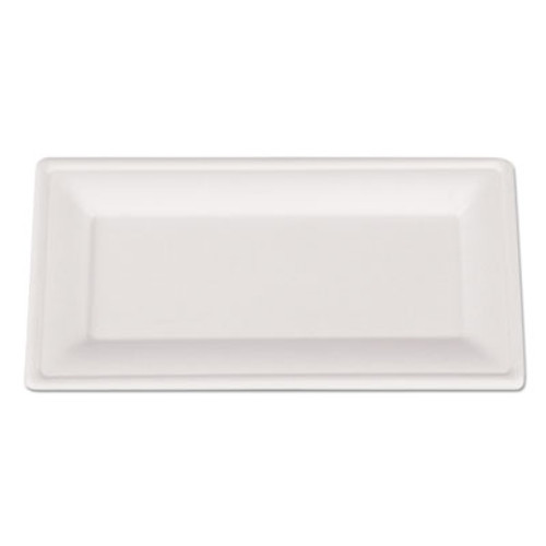 SCT ChampWare Molded Fiber Tableware, Rectangle, 10 x 5, White, 500 per Carton (SCH 18650)