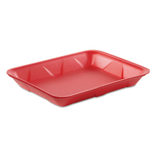 Genpak Supermarket Tray, Foam, Rose, 9 1/4 x 7 1/4, Rose, 125/Bag, 4 Bag/Carton (GNP 4DRS)