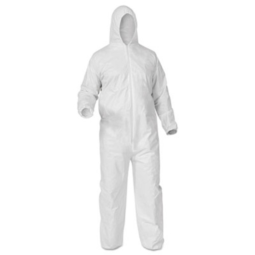 KleenGuard* A35 Coveralls, Hooded, X-Large, White, 25/Carton (KCC 38939)