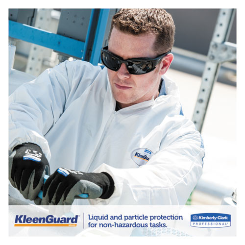 KleenGuard A35 Coveralls  Hooded  X-Large  White  25 Carton (KCC 38939)