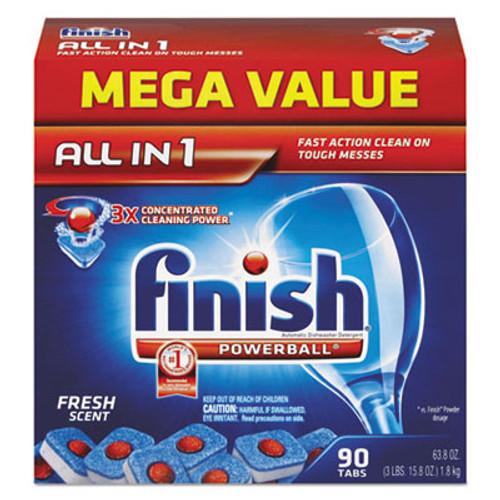 FINISH Powerball Dishwasher Tabs  Fresh Scent  85 Box  4 Boxes Carton (REC 89729)