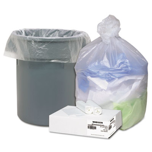 Ultra Plus High Density Can Liners, 31-33gal, .433mil, 33 x 40, Natural, 100/Carton (WEB WHD3339)