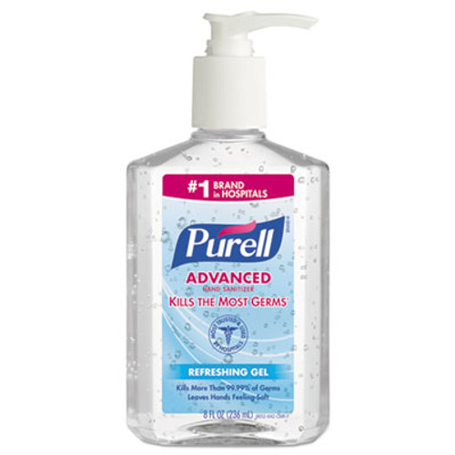 PURELL Advanced Instant Hand Sanitizer, 8oz Pump Bottle (GOJ 9652-12CMR)