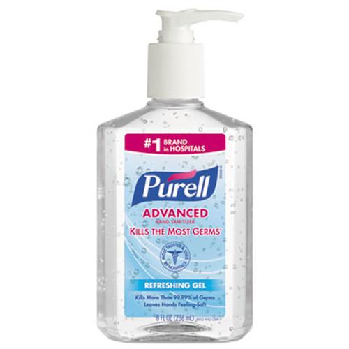 PURELL Advanced Hand Sanitizer Refreshing Gel  Clean Scent  8 oz Pump Bottle (GOJ 9652-12CMR)