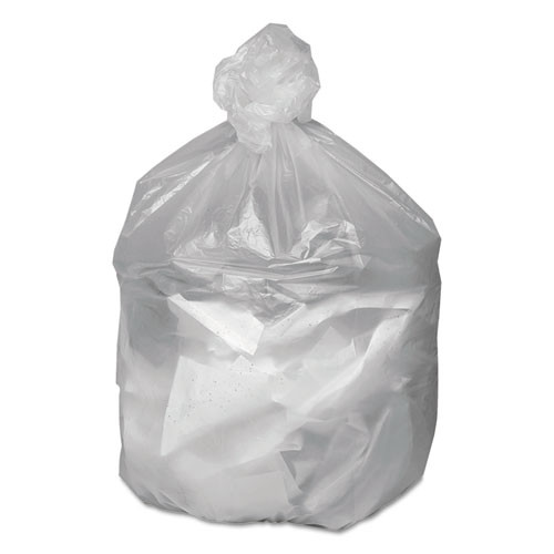 Good 'n Tuff Waste Can Liners  60 gal  12 microns  38  x 58   Natural  200 Carton (WEB GNT3860)