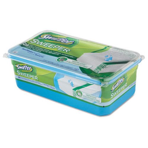Swiffer Wet Refill Cloths  Open Window Fresh  Cloth  White  10 x 8  28 Box  6 Boxes CT (PGC 82856)