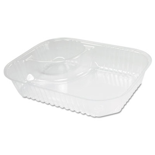 Dart ClearPac Large Nacho Tray  2-Compartments  Clear  500 Ctn (DCC C68NT2)