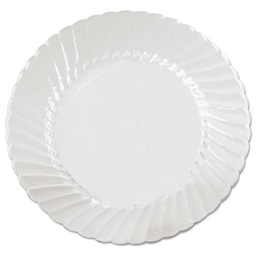 WNA Classicware Plates  Plastic  6 in  Clear  18 Bag  10 Bag Carton (WNA CW6180)