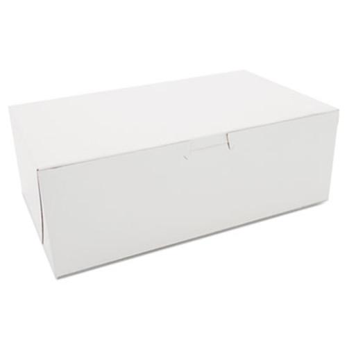 SCT Non-Window Bakery Boxes, Paperboard, 10w x 6d x 3 1/2h, White, 250/Bundle (SCH 1017)
