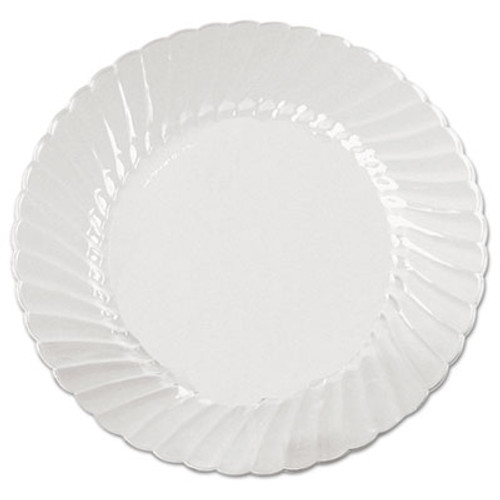 WNA Classicware Plates  Plastic  9 in  Clear  18 Bag  10 Bag Carton (WNA CW9180)